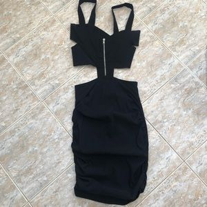 Dresses & Skirts - Black Dress with Cut Outs